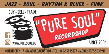 Pure Soul Recordshop Anzeige 92x45 5 Läden cottonclub